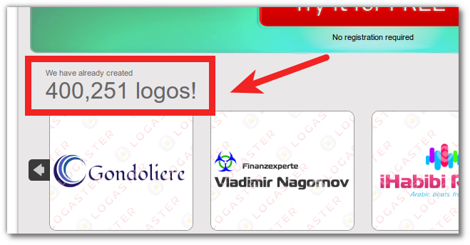 400 000 logos already created! Logaster