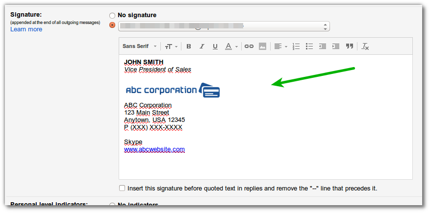 gmail-signature-customise