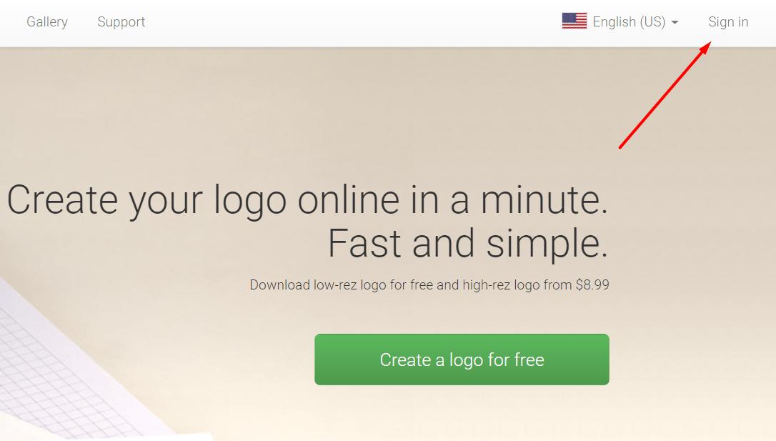 Logaster login page