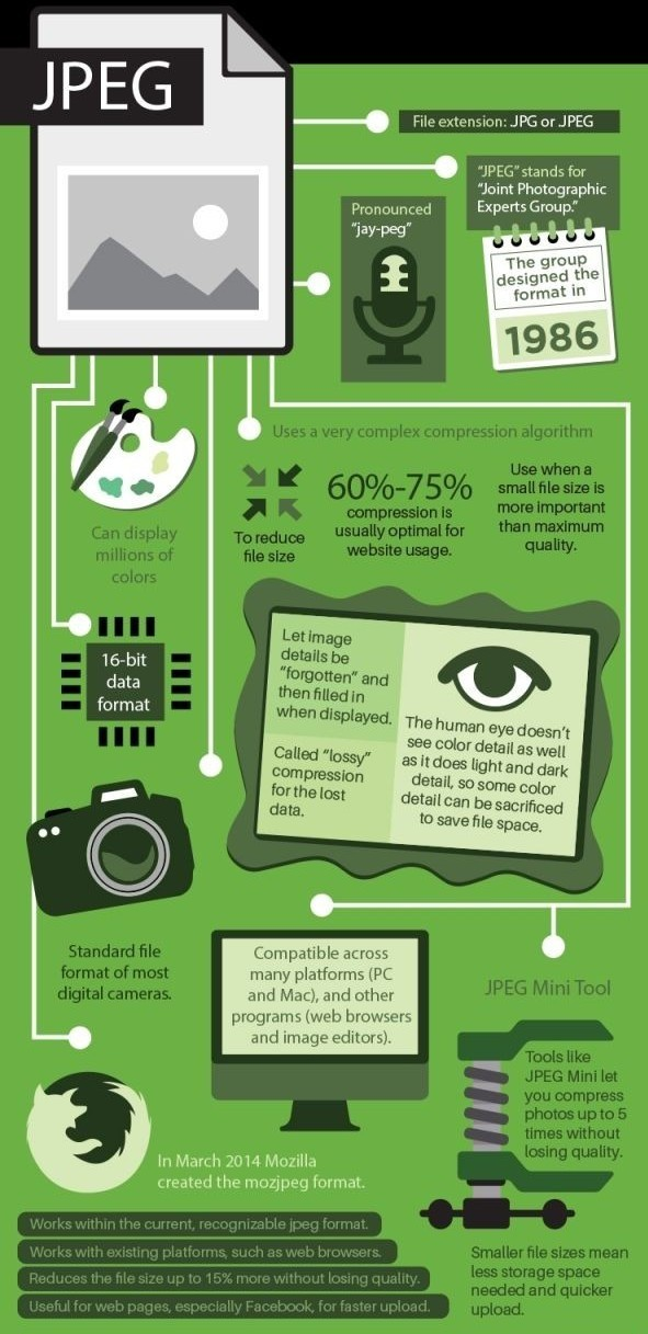 Advantages and disadvantages of JPEG format [Infographic] | Logo ...