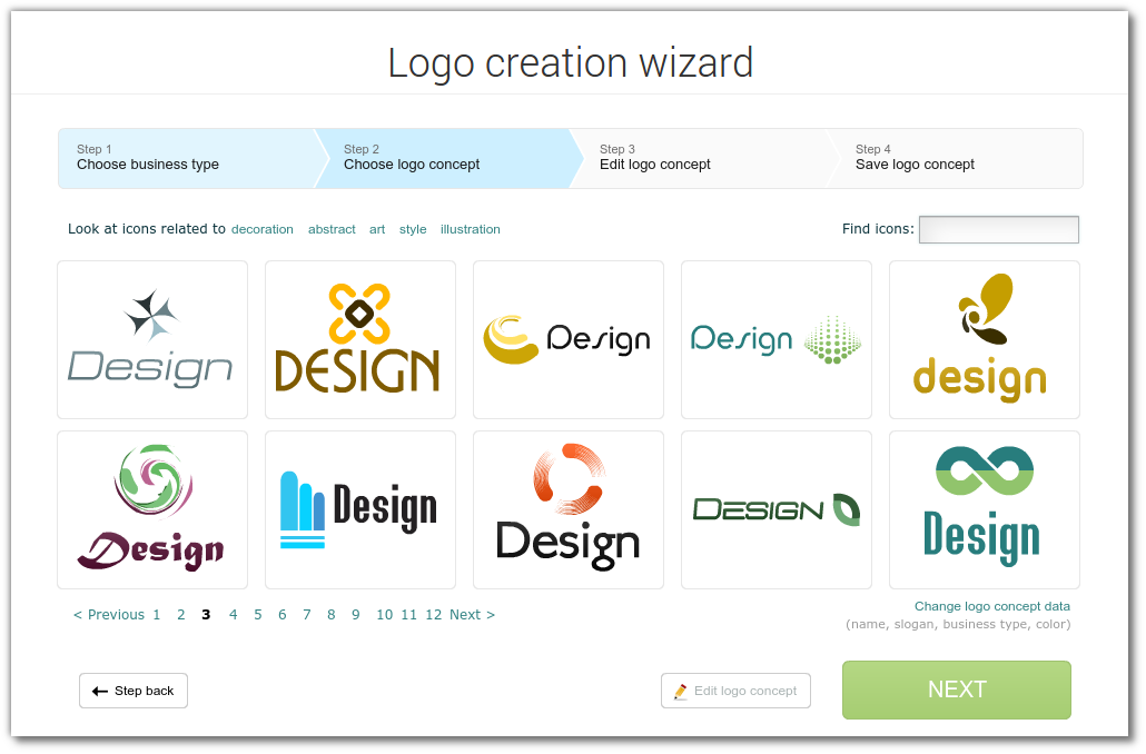 the new design of logo creation wizard logo design blog