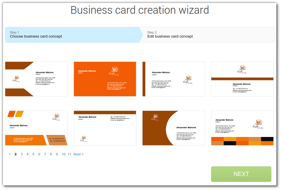 How to create business cards, envelopes, letterheads with created ...