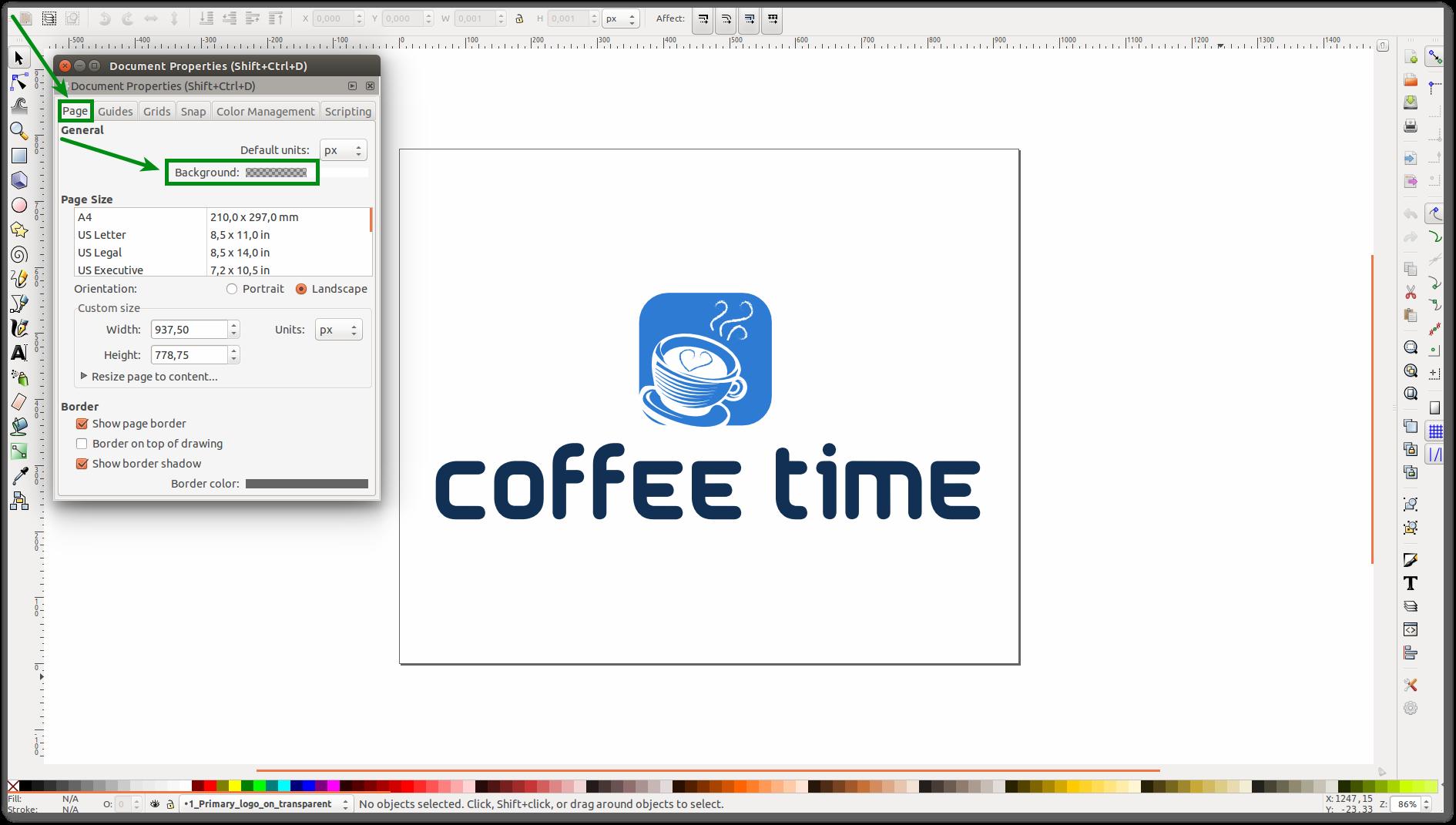 Создание логотипа в фотошопе на прозрачном фоне