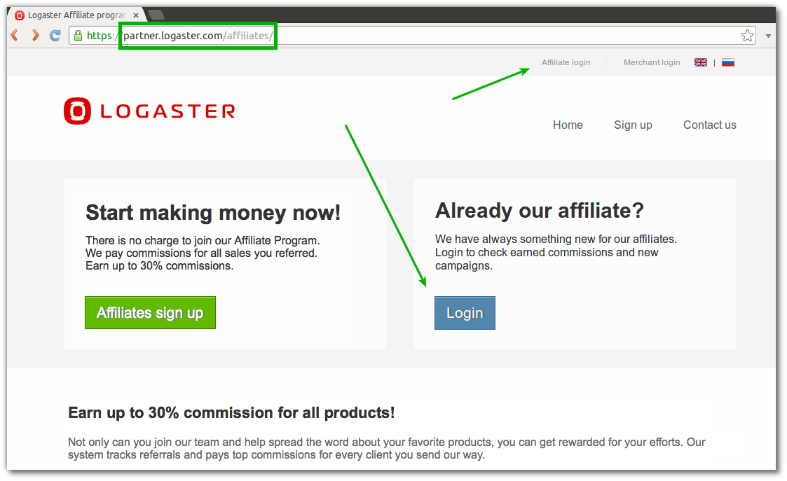 logaster-affiliate-login