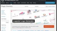 Logaster logo generator - new Wordpress plugin