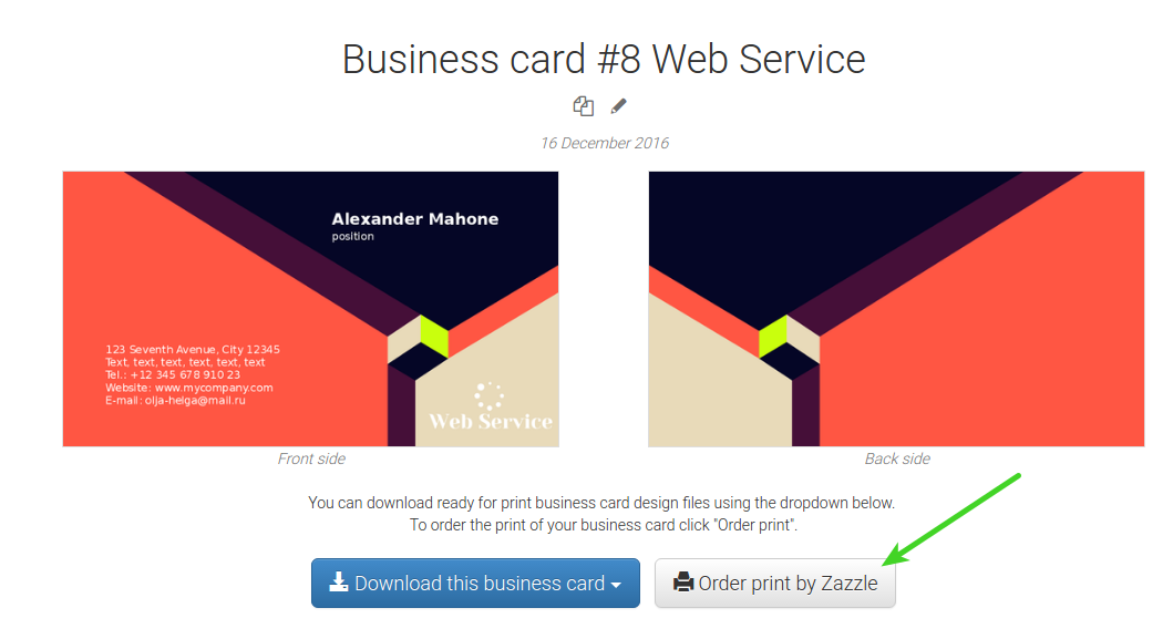 How to print your business card with zazzle reheart Image collections