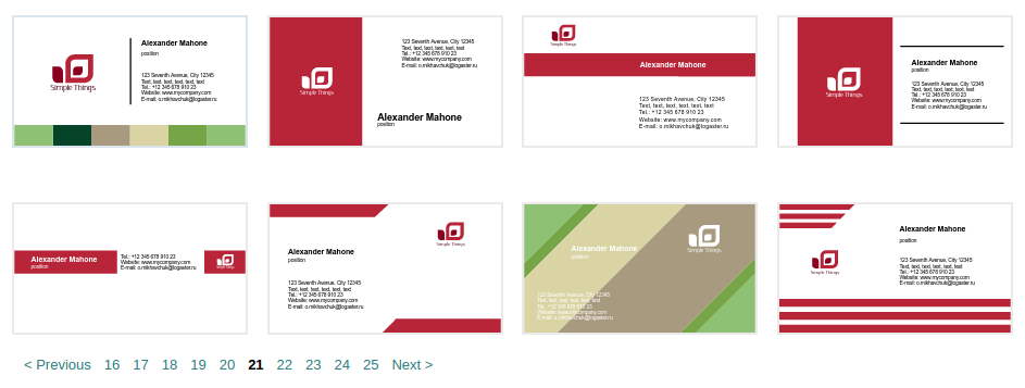 Logaster business cards templates
