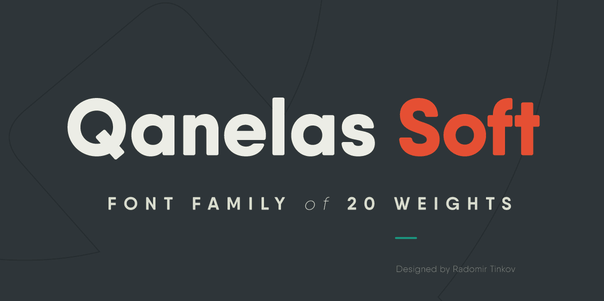 Qanelas Soft Is A Professional Contemporary Sans Serif With Geometric Feel It Good And Beautiful Variation Of The Initial Font Family