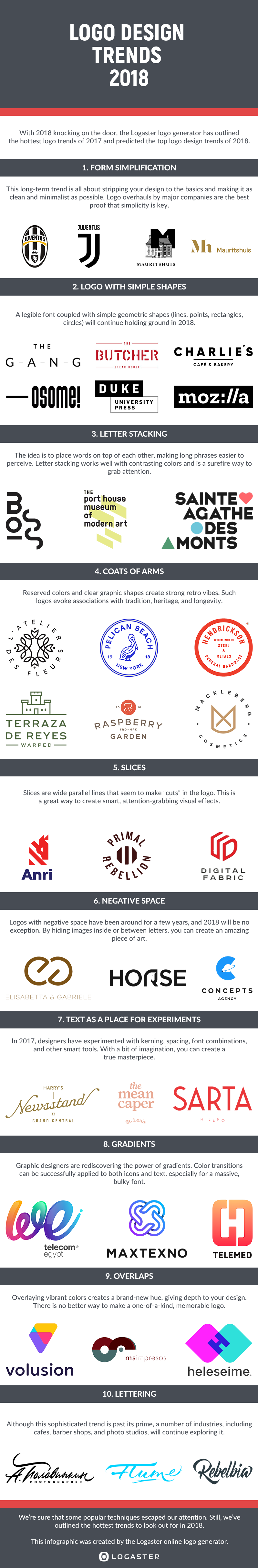Check Out This Engaging Infographic On Logo Design Trends That Will Define 2018