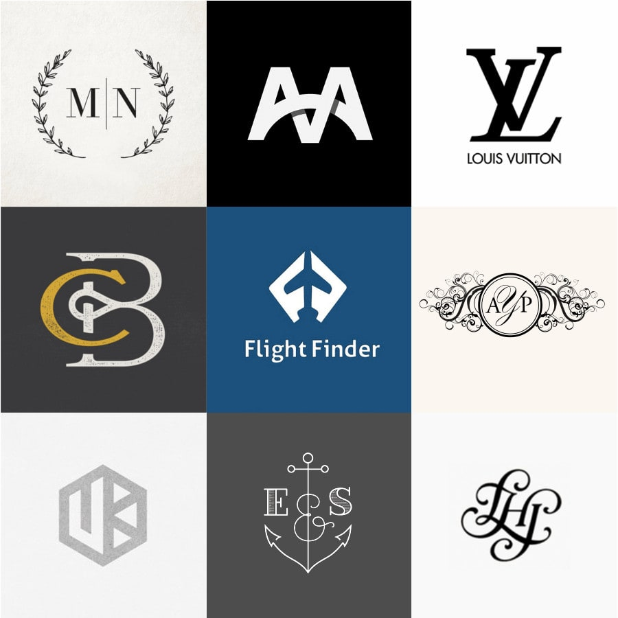 20 creative monogram ideas for design inspiration logo design blog