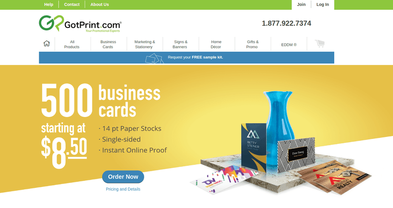 7 best online printing services for your business logo design blog gotprint prints personalized business cards online their website contains a card designing tool you can use to enhance an items look reheart Gallery