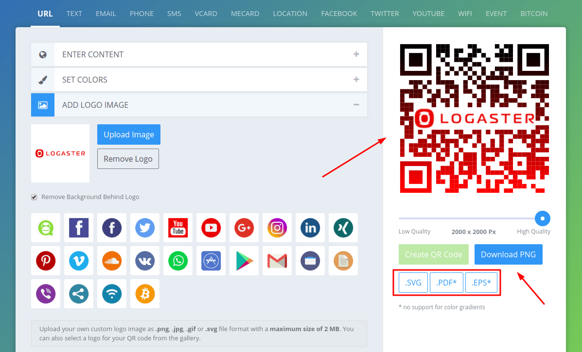 How to create a QR code with logo: step-by-step instruction