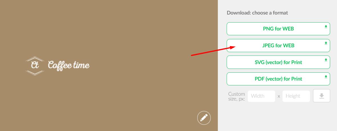 Select the download format: PNG, JPEG, PDF, or SVG