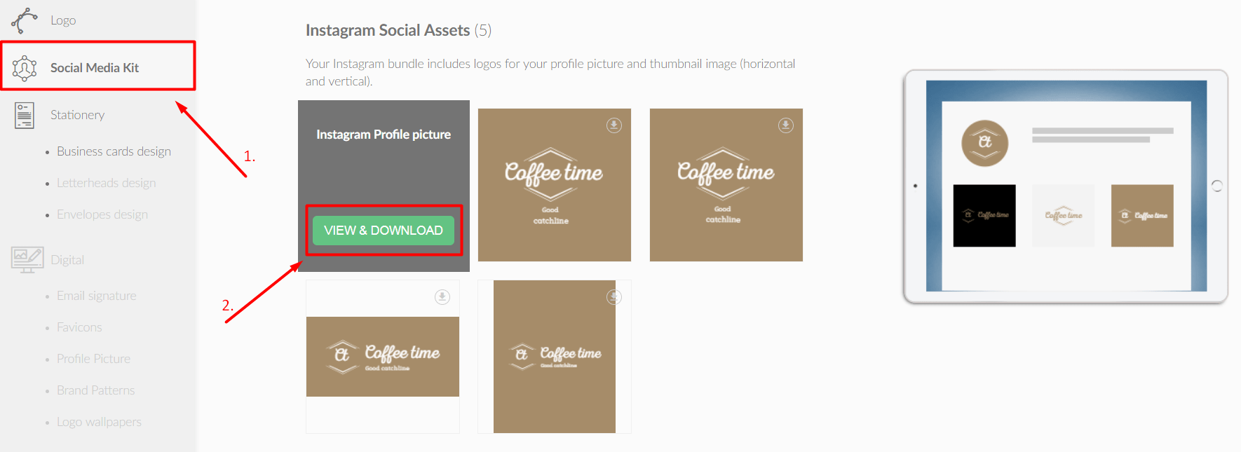 Logos for social media