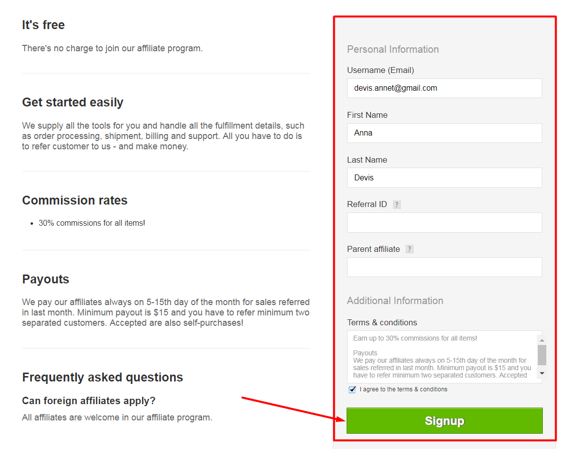 partner program register