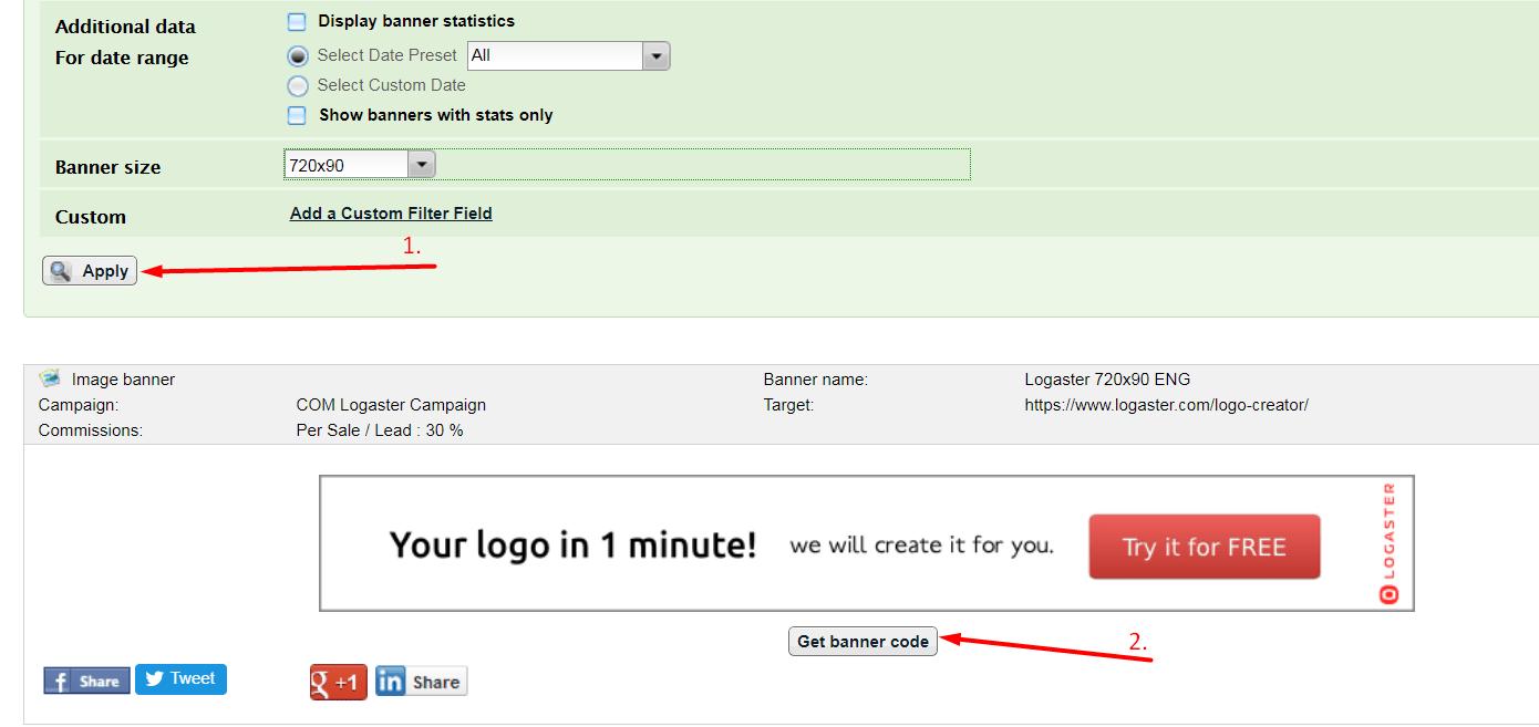 copy banner code