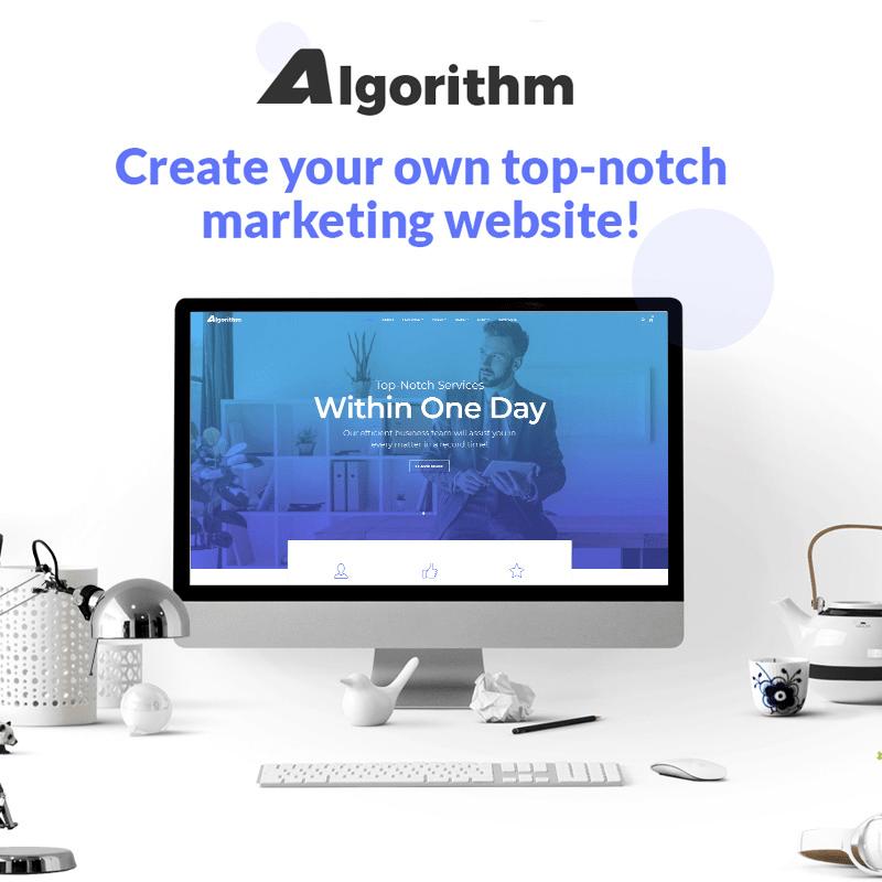 Algorithm Theme For Marketing Websites