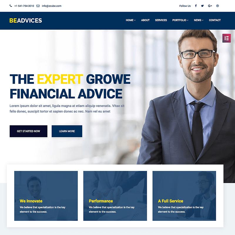 Beadvices Financial Theme