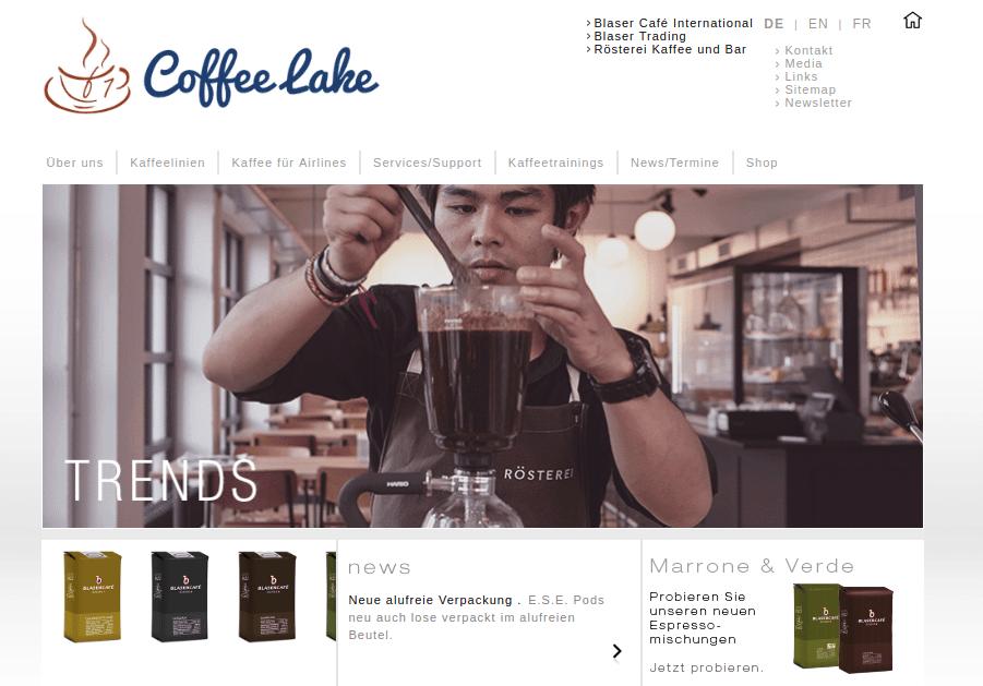Coffee Lake Logo Sur Le Site Web