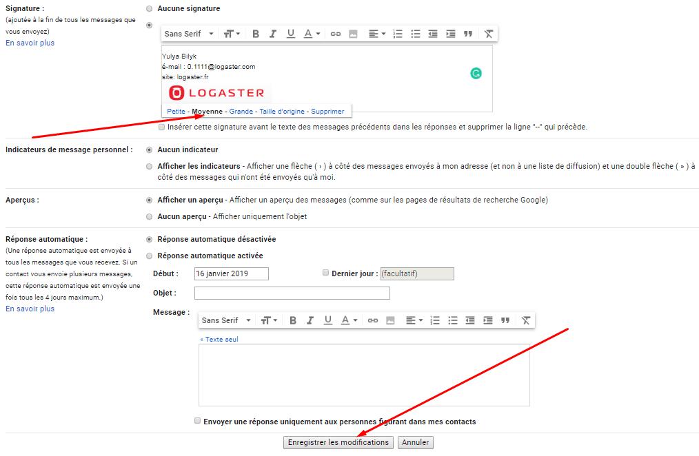 Gmail Enregistrer La Signature