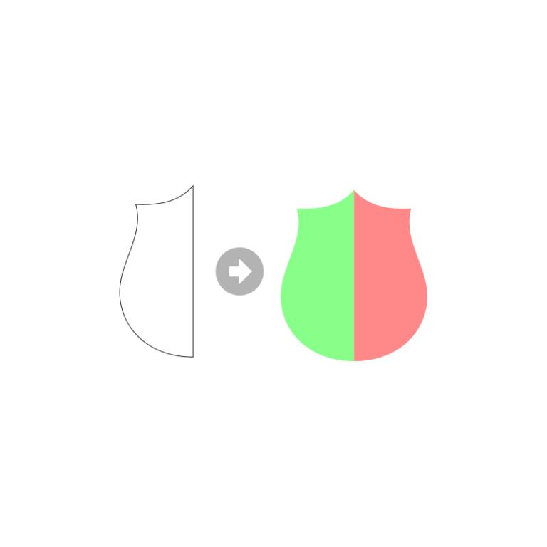 Inkscape Logo De Bouclier Etape 1