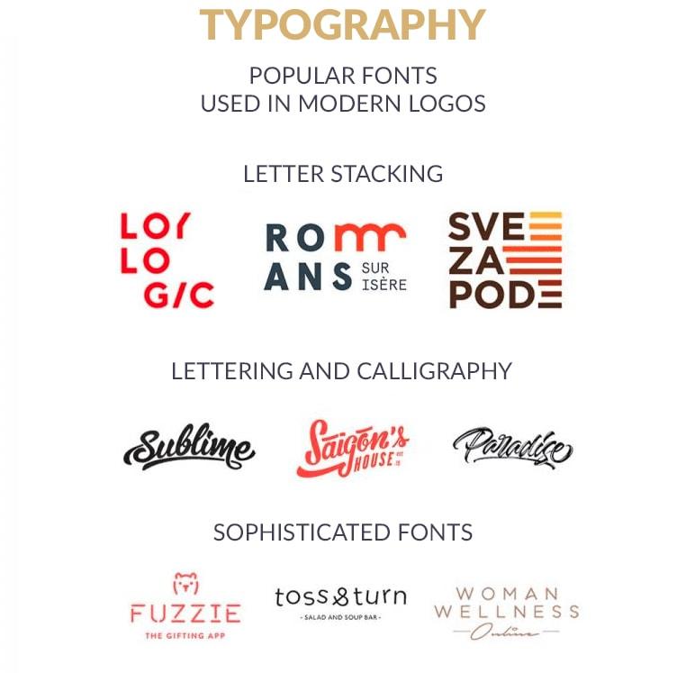 Typographie De Logo