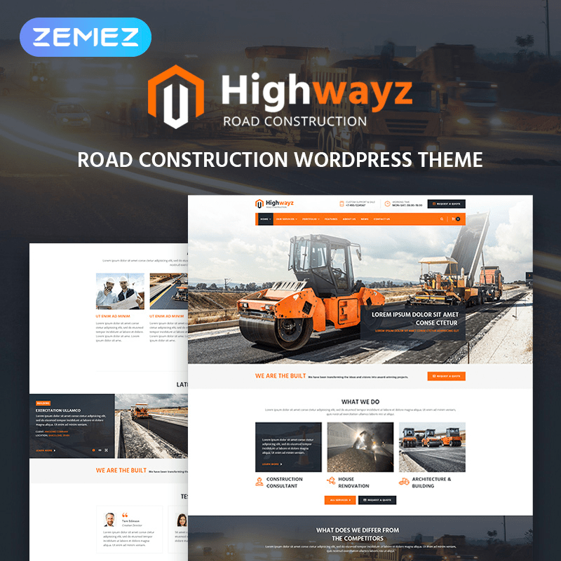 Road Construction WordPress Theme