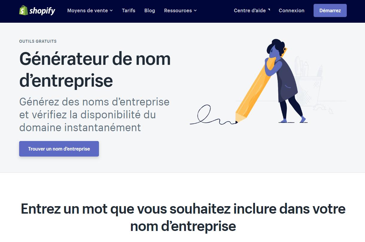 Générateur De Nom Shopify