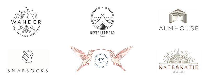 Lignes Fines Dans Le Logo