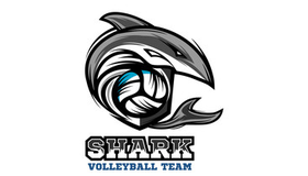 Shark Volleyball Logo