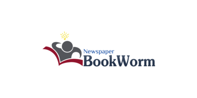 Book Worm Newspaper Logaster Logo