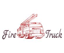 Fire Truck Logaster Logo