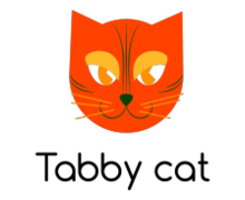 Tabby Cat Logaster logo