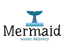 Mermaid Water Delivery Logaster Logo