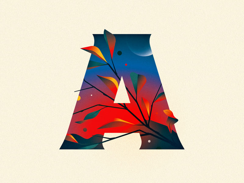 Letter design A/ A by Nick Matej