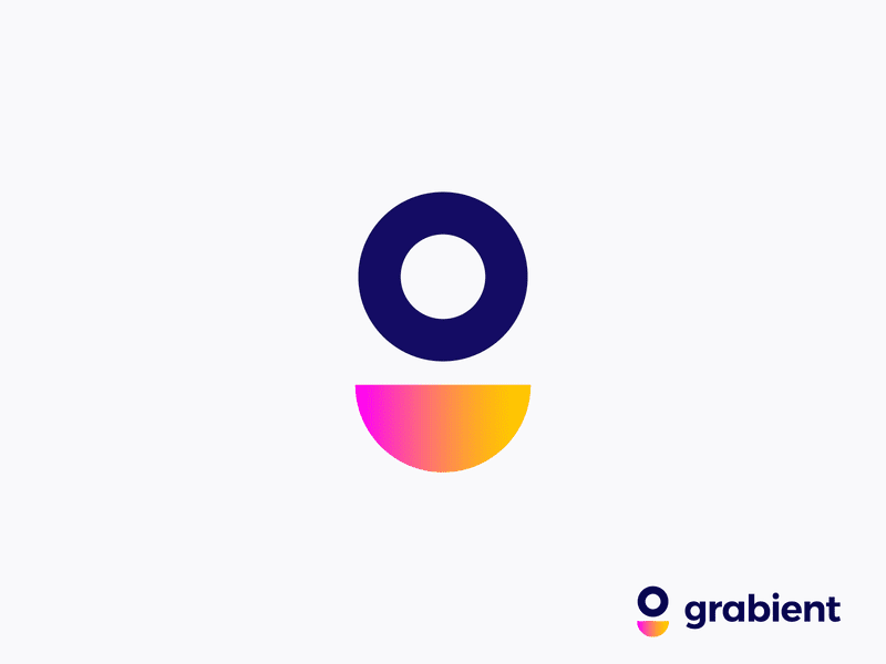 Letter design G / Grabient by unfold logo concept by Vadim Carazan