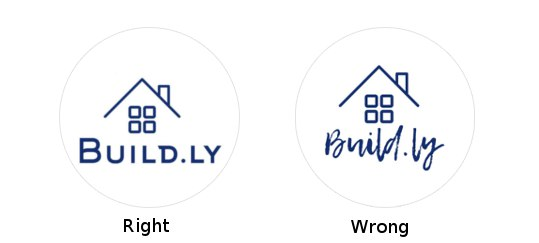 right wrong logo font logaster