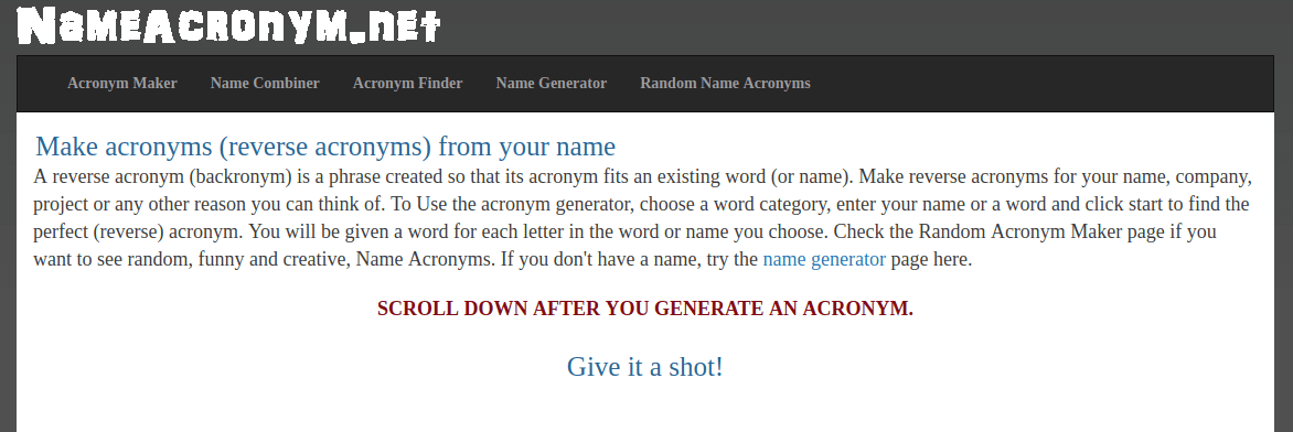 How to create an acronym: best acronym generators | Logaster