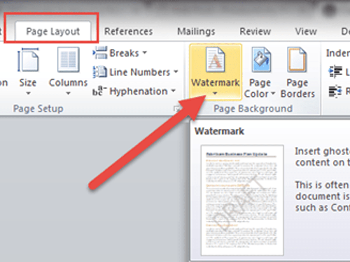 How to put a watermark in Word   Logaster