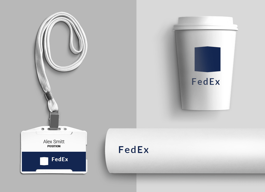 How would FedEx logo look like if it were made in Logaster?