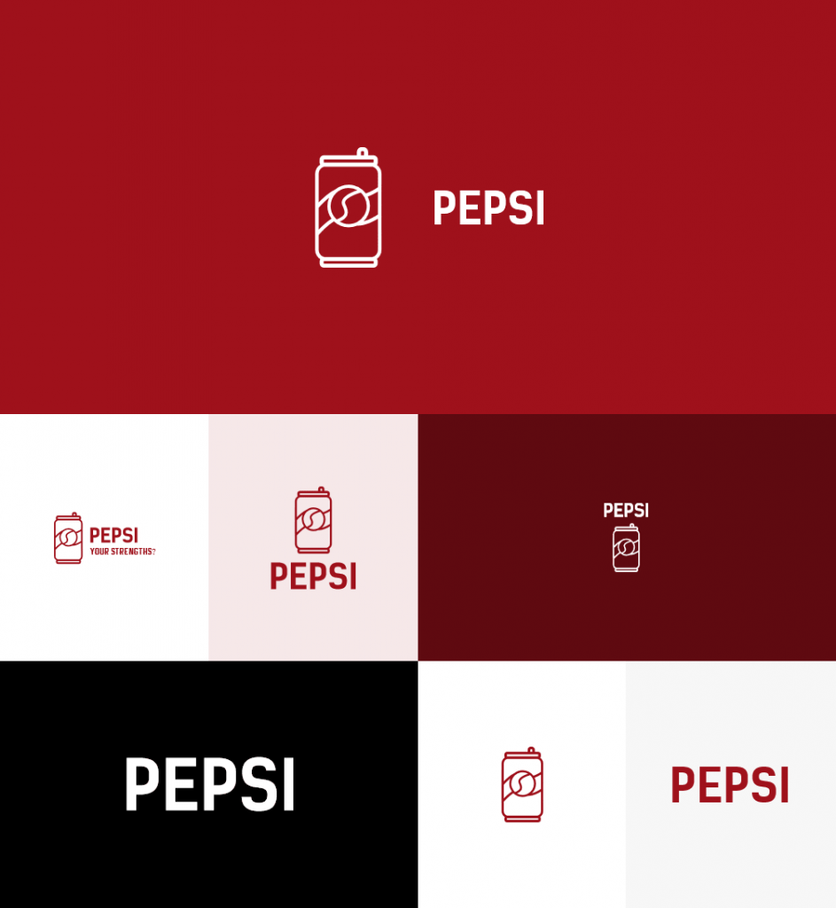 How would Pepsi logo look like if it were made in Logaster?