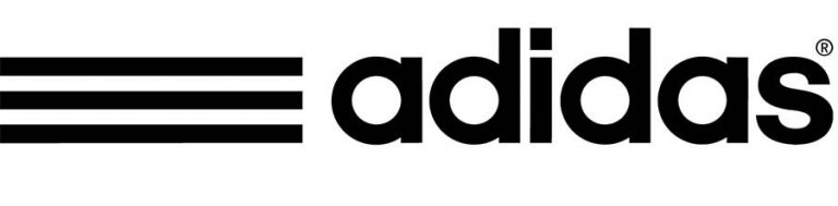 three-striped logo of Adidas