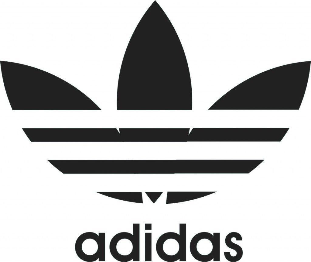 the trefoil logo of Adidas